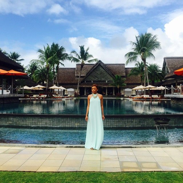 When #BonangMatheba lands in #Mauritius for a #Ciroc takeover - she #turnsup big time.
