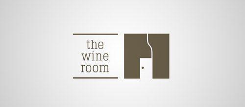 wine room door logo designs