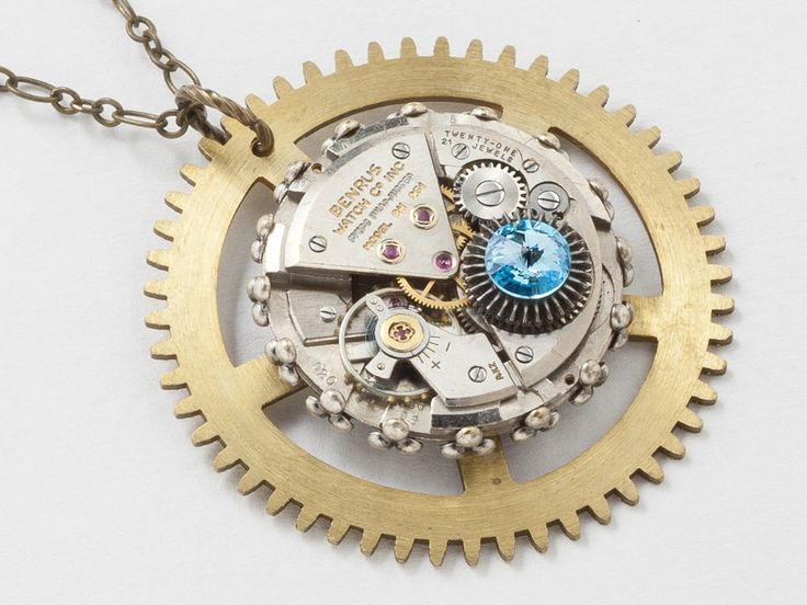 art x romance clockwork by mechanical metal journey necklace steampunk