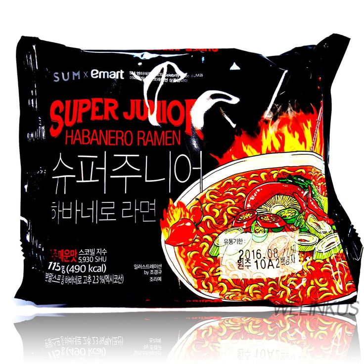 Emart Habanero Ramen 3,6,10 Korean Fire Spicy Instant Noodle Super junior Ramyun #Emart #Koreaninstantspicynoodle