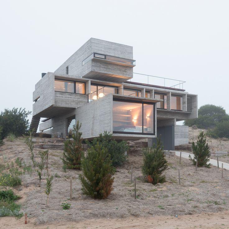 1000 ideas about concrete houses on pinterest box houses concrete architecture and modern - Modern architectural trio ...