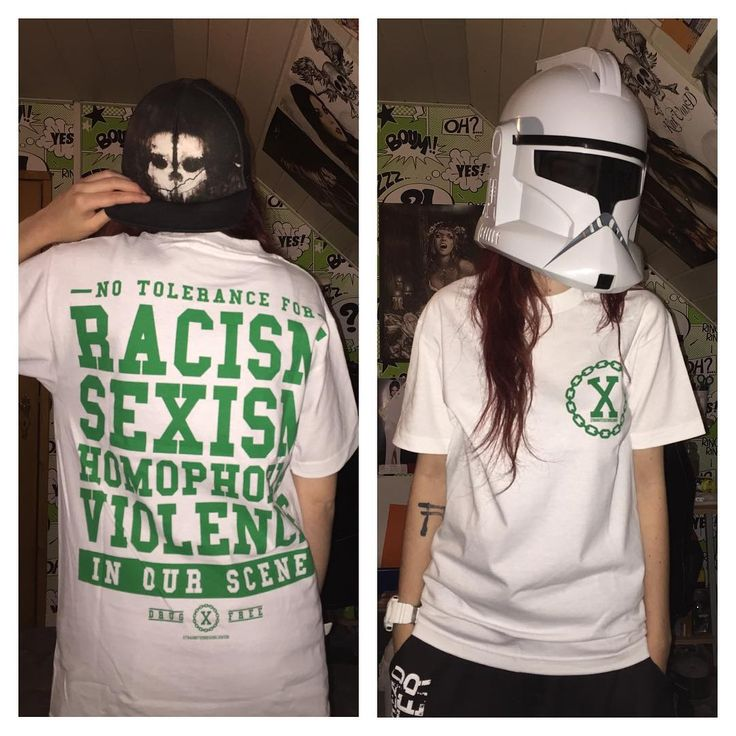 """yes it exists straight edge clone trooper  finally got my shirt from @straightedgeworldwide i'm so proud of it!! """"No tolerance for racism, sexism, homophobia, voilence in our scene!"""" #straightedge #sxe #drugfree #nodrugs #noalcohol #notobacco #antidrugs #antialcohol #antitobacco #sxeandproud #straightedgeandproud #betterthanyou #straightedgegirl #straightedgegirls #followme #straightedgeworldwide #luxembourg #clonetrooper #starwars"""