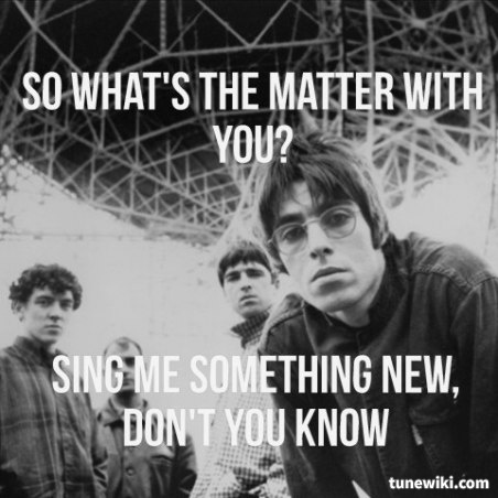 #Oasis - Stand By Me #tunewiki #lyricart