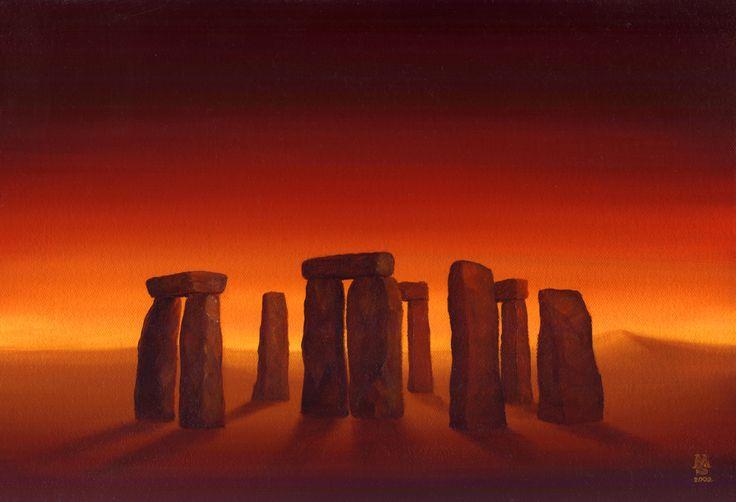 Magic of the stones / Magie kamenů  technique: oil on canvas / olej na plátně