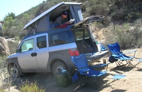 E camper for Honda Element. Camping anytime anywhere. Wonder how long before Zac adds one of these to his element.lol