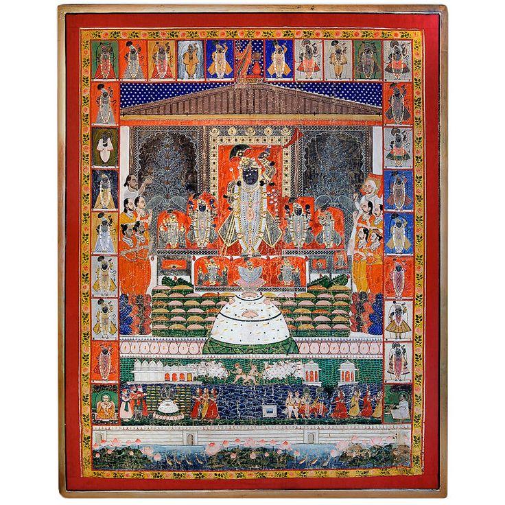Pichwai Painting of Krishna Reincarnated as Shrinathji at 1stdibs