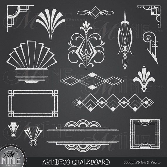 Deco Accent Art Nouveau Art Deco Design Clip Art Frame Borders