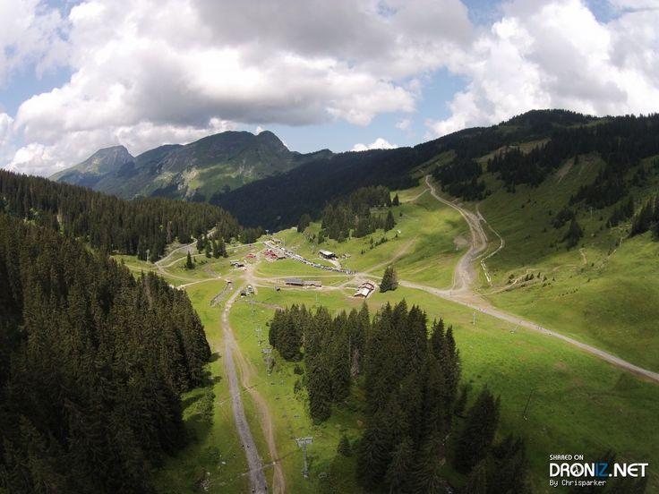 Aerial drone Photo from France by Chrisparker : Chemin Rural de l'Ele aux Brochaux, 74110 Montriond, France