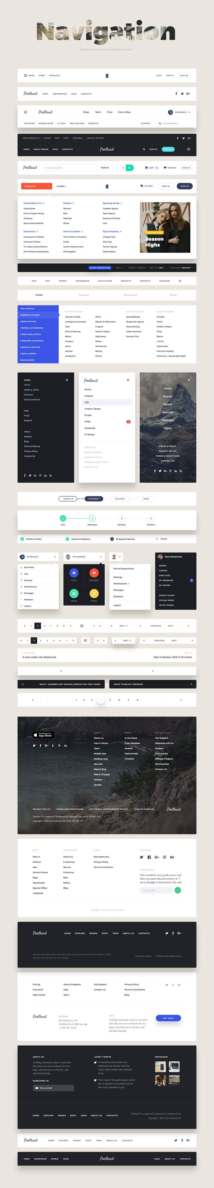 Portland UI Kit on Behance