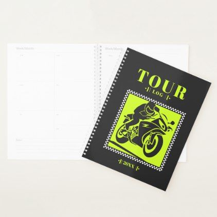 Motorcyclists Travel Log VZS2 Planner  $27.85  by vivendulies  - cyo customize personalize unique diy idea