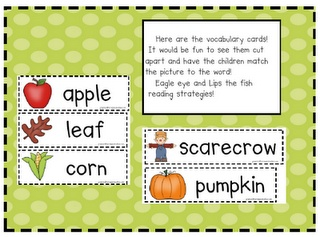Can Do Kinders: fall vocabulary cards: Autumn Vocabulary, Fall Ideas, Fall Cards, Fall Vocabulary, Fall September October, Kindergarten Fall, Vocabulary Cards, Fall Theme, Kids Education