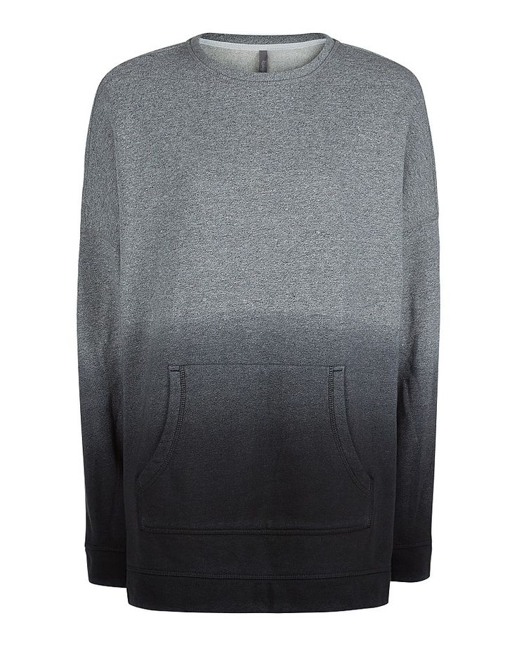 This slouchy ombre effect jumper dress is made for off-duty style. Crafted in super soft brushed cotton for insulating warmth, the oversized longline sweat features a large front pocket. Throw on over leggings for casual style.