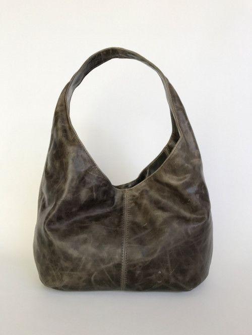 Distressed Green Leather Hobo Bag Fashion Classic Casual Slouchy Handbag Handmade Handbags And Purses Alice
