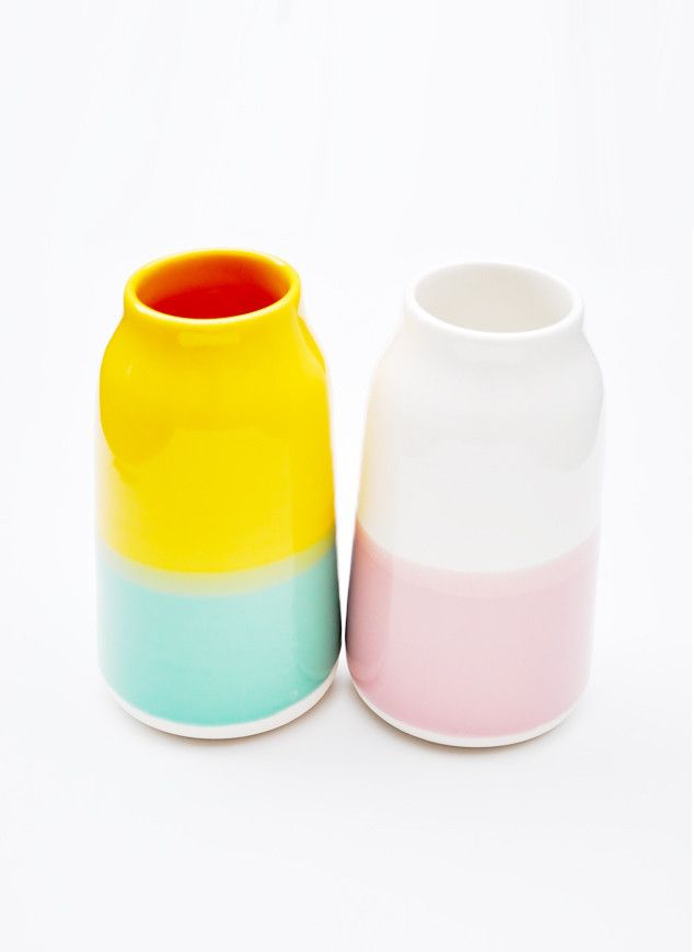 color gloss vases