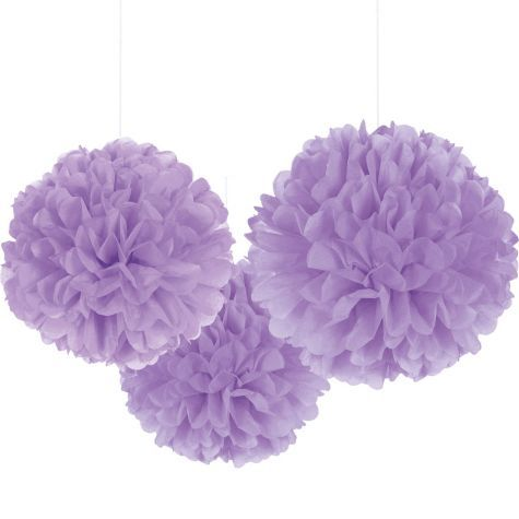 Lilac Fluffy Decorations - Party City