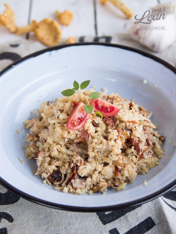 Paleo risotto z kalafiora z kurczakiem i kurkami - Cook it Lean - sprawdzone paleo przepisy