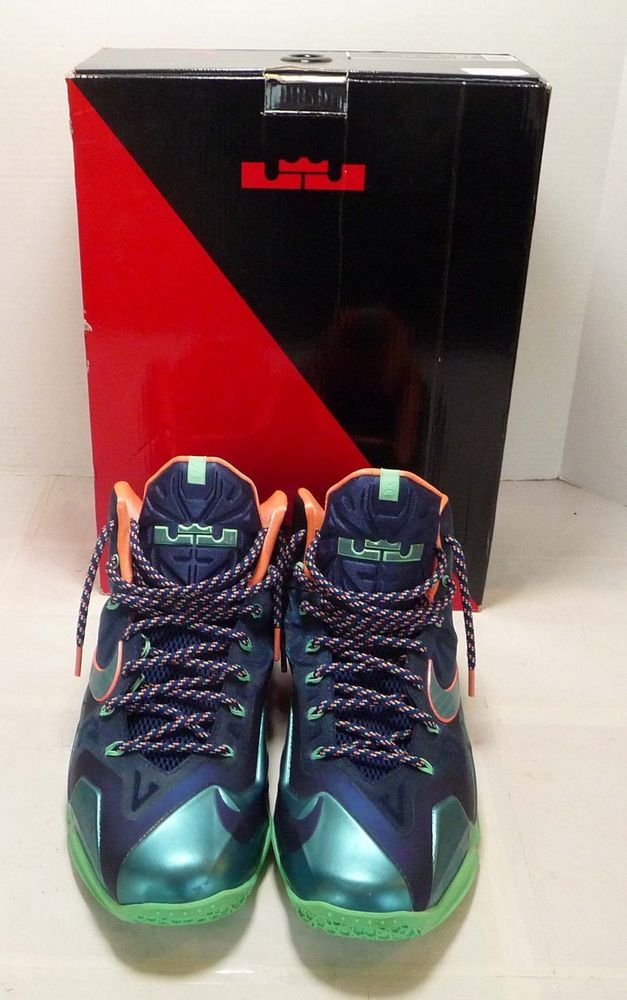 finest selection 48e9f dfb9f Nike Lebron XI Mens 12 BRAVE BLUE MNRL TEAL 616175 400  fashion  clothing   shoes  accessories  mensshoes  athleticshoes (ebay link)