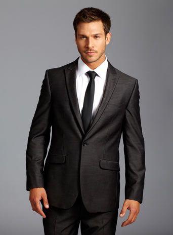Dark Grey Razor Edge Suit Jacket