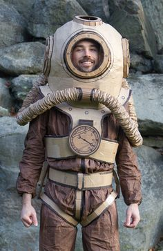 Deep sea diver. This would be great to do a couple's costume with the guy dressed like this and the girl dressed like the ocean.
