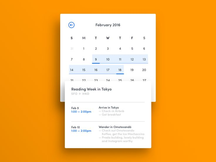 011 — Calendar Card