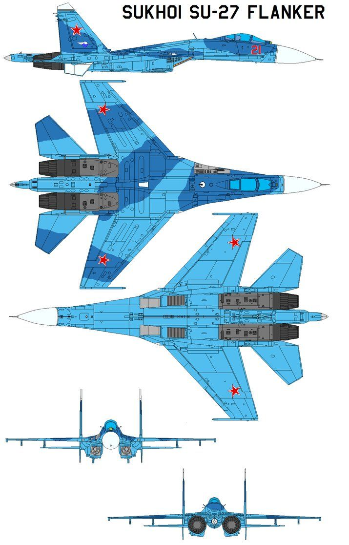 Sukhoi Su-27 Flanker The Su-27 is a big long-range air superiority fighter, comparable to the U.S. F-15 but superior in many respects. It is a twin-engined aircraft with a blended wing and fuselage...