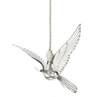 hommin bird wit hanglamp vogel vorm laser cut metaal bij keck & Lisa Utrecht