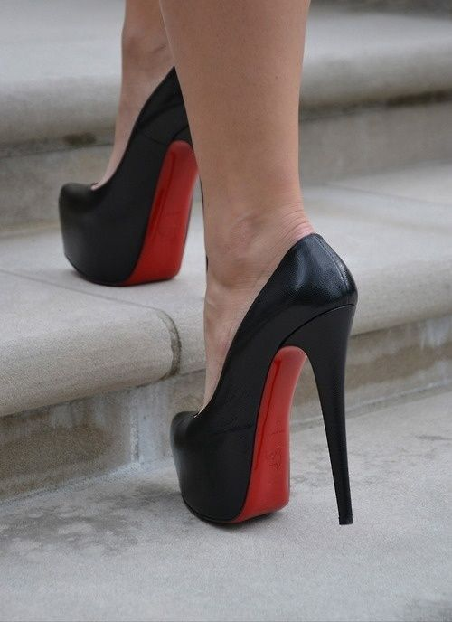 #ChristianLouboutin #Louboutin Wow, Worth it! Cofortable and cheap! Christian Louboutin Daffodile 160mm Platforms Black CGE