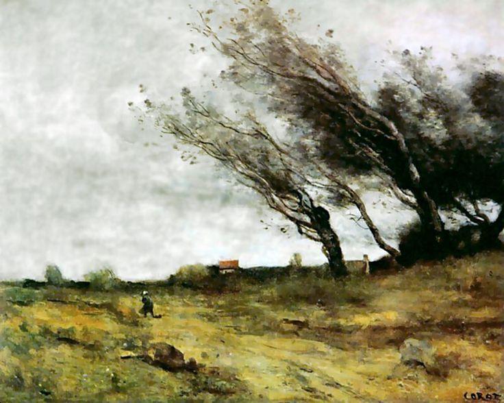 Jean-Baptiste Camille Corot, Le Coup de Vent, 1865