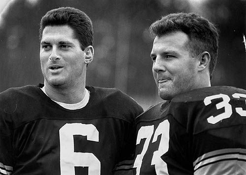 Merril Hoge and Bubby Brister #steelers