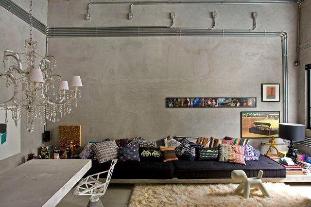Beton Brut Deco Salon Design De Salle De Sejour Salle De Sejour