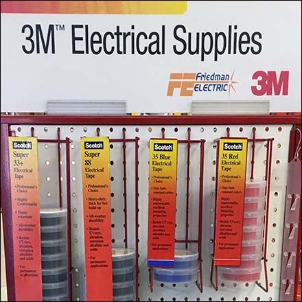 Electrical Supplies Endcap Display By 3m Electrical Supplies