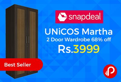 Snapdeal #BestSeller is offering 68% off on UNiCOS Martha 2 Door #Wardrobe. Particle Board Type, 6 Months Warranty, Lockable Doors. Made of engineered wood and equipped with sturdy hardware for a long life, these wardrobes come in various configurations out of which you can choose the one fit for you. Designed as household almirah.  http://www.paisebachaoindia.com/unicos-martha-2-door-wardrobe-68-off-just-at-rs-3999-snapdeal/