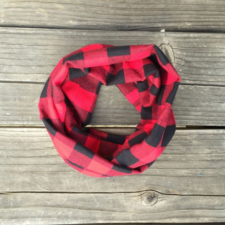 Red Checkered Toddler/Child Infinity Red and Black Scarf Scarf Children's Scarves for Baby Boy or Baby Girl Scarves for Toddlers/Kids by ReaganLynnLoves on Etsy