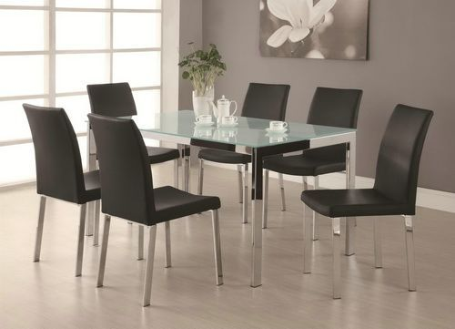 glass kitchen table sets for 6 modern dining setssmall