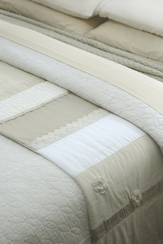 Ivory French Country Bed Runner