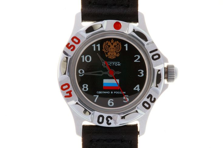 "WATCH VOSTOK JUNIOR 591857 STATE SYMBOLS OF RUSSIA. In the upper part of the black face, at twelve-hour point, there is an image of the Russian Federation State Emblem. Above the axis of the hands there is the Russian version of the watchmaker's logo. Below the axis – the National Flag of Russia. Beneath it – the inscription ""Made in Russia"".  #russian #mechanical #military #watches #vostok #komandirskie #gifts #souvenirs  #tricolor #junior"