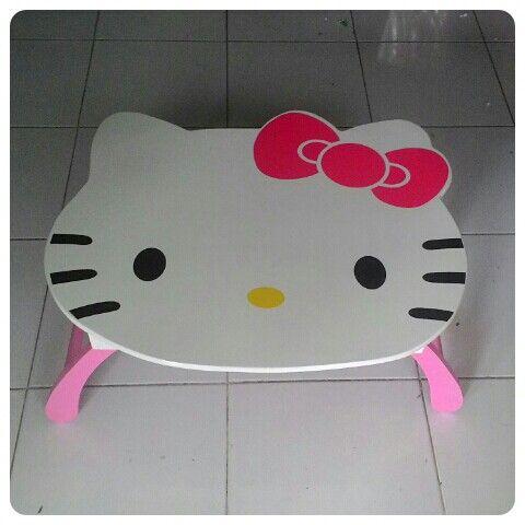 Meja lipat hello kitty  Www.simplefurniture.web.id  #mejabelajar #mejalipat #furnitureanak