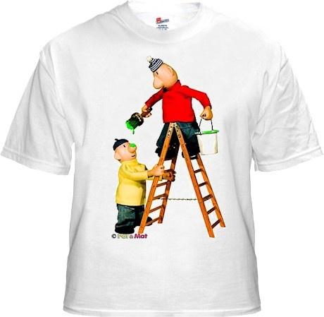 Buurman en Buurman T-shirt WIT LADDER Kids