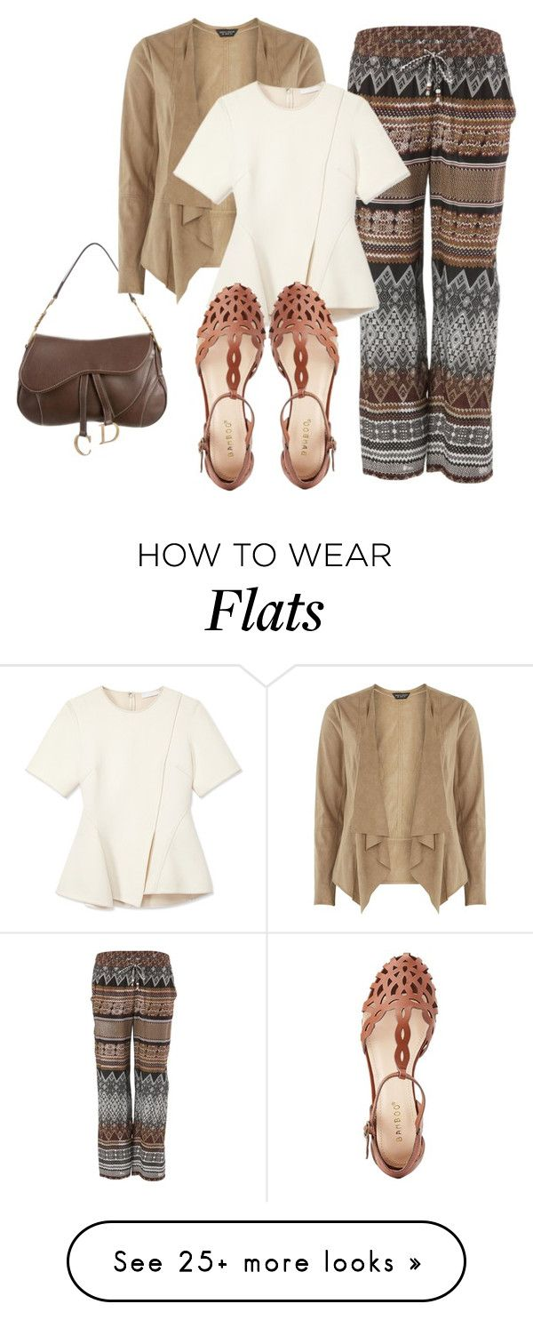 """Batik Pant"" by sillycatgrl on Polyvore featuring Dylan, Christian Dior, Dorothy Perkins, Alexander Wang and Bamboo"