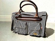 Stile classico strisce Small Dog Carrier Bag, Chihuahua Yorkie Pet Borsa da viaggio