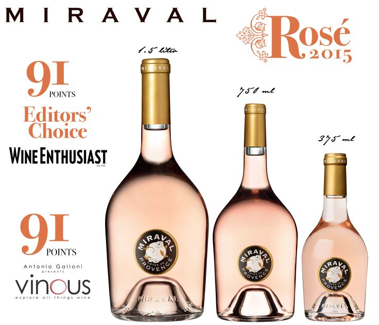 Miraval from big to small- this Rosé has it all!