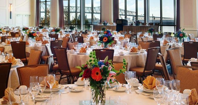Hilton Baton Rouge Capitol Center Hotel, La - Riverview Ballroom Banquet Table