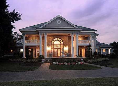 Plan 66231we southern influenced plantation estate for Southern mansion house plans