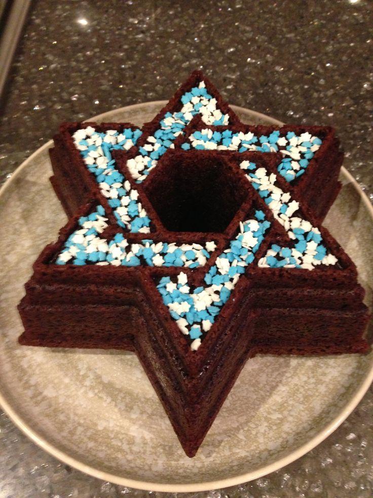 star of david cake for Hanukkah