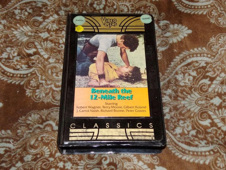 Beneath the 12-Mile Reef (VHS, 1984) Rare OOP 1st Video Gems Embedded Clamshell!