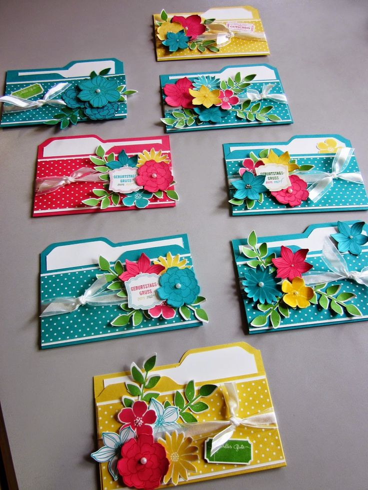 File-Folder-Card mit Secret Garden
