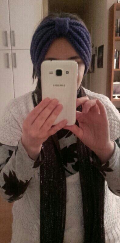 Diadema-Turbante // Headband #tricot #punto #knitting #diademas #headbands