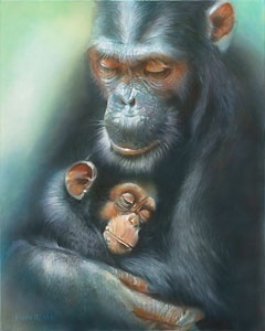 Chimpanzee - Love Survives - John Rowe - World-Wide-Art.com - $395.00 #Disney #JohnRowe
