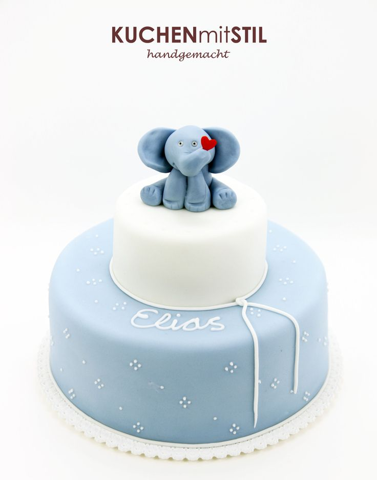 www.KUCHENmitSTIL.at - The finest Pastry - Christening Cake Baptism Cake Elephant Cake Tauftorte