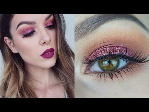 CRANBERRY EYES | ZOEVA Cocoa Blend Palette Tutorial | RhiannonClaire - YouTube